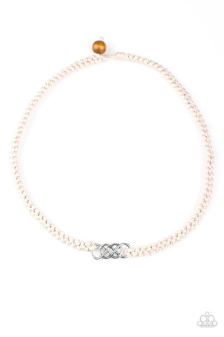 Paparazzi Just In MARITIME White Men's Short Necklace