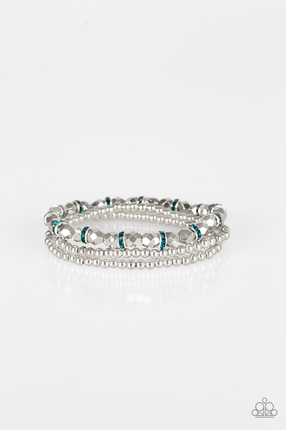Paparazzi Let There Beam Light Blue Stretch Bracelet