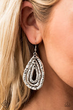 Load image into Gallery viewer, Paparazzi Metallic Meltdown Silver Fishhook Earrings - Fashion Fix Simply Santa Fe September 2020