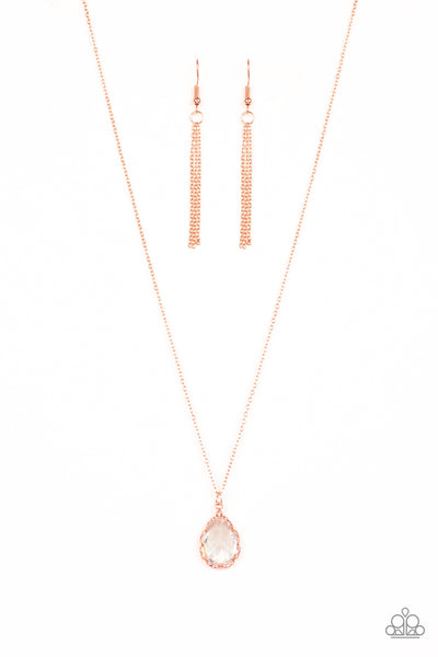 Paparazzi Metro Twinkle Copper Short Necklace