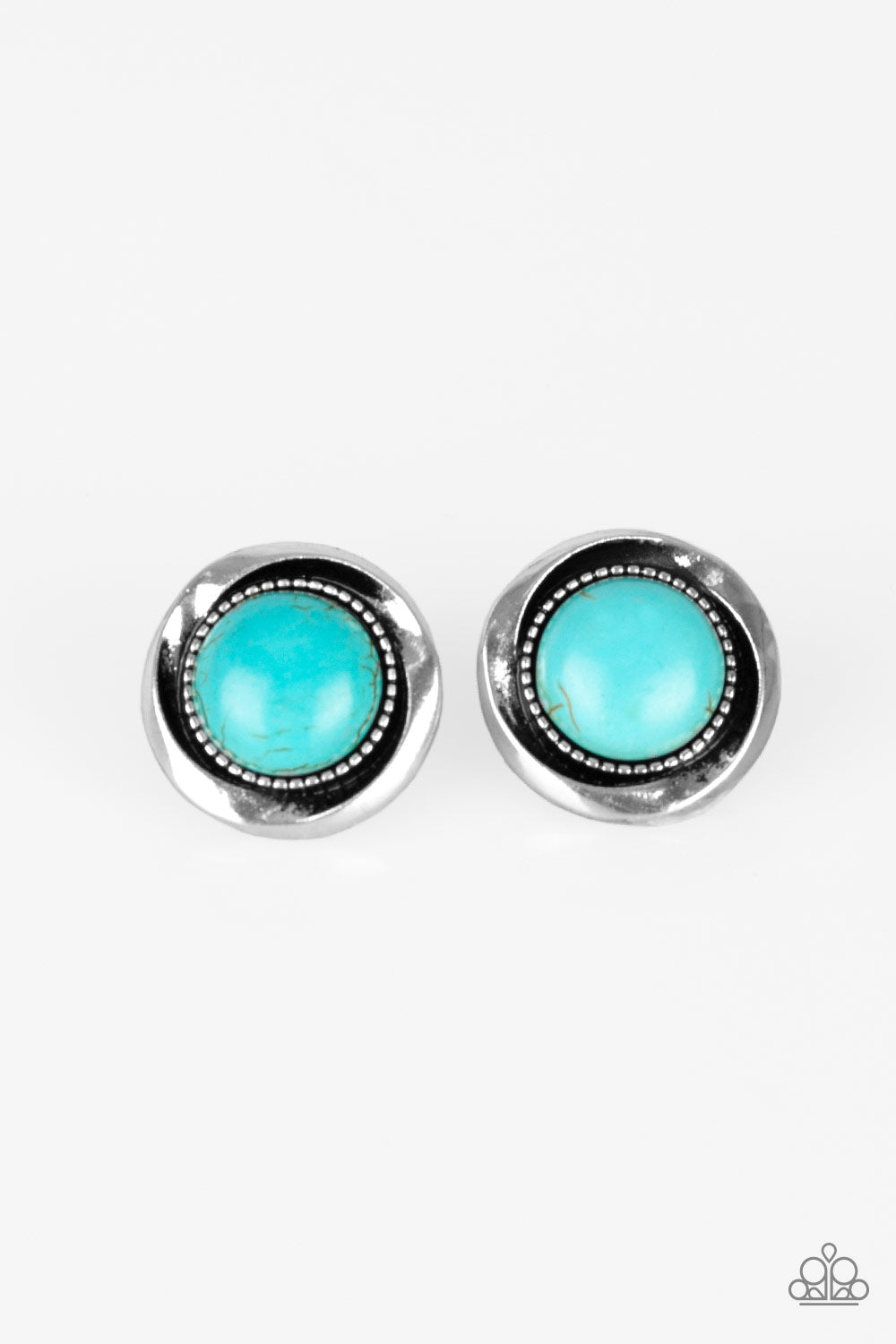Paparazzi Out Of This Galaxy Blue Post Earrings