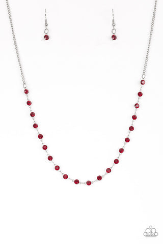 Paparazzi Party Like A Princess Red Short Necklace