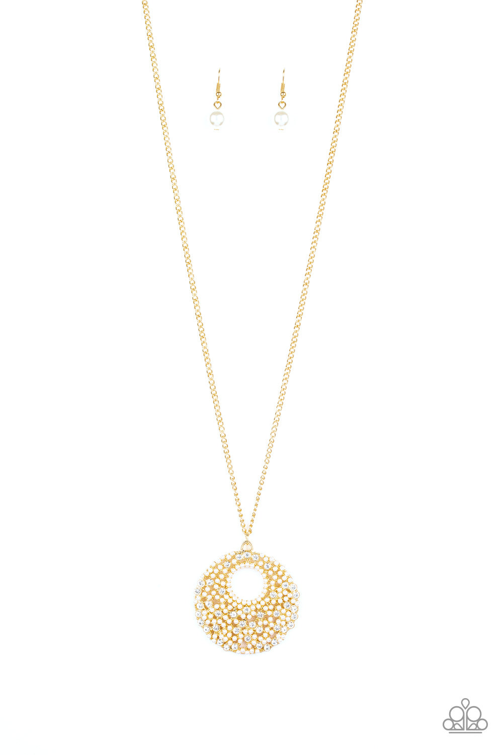 Paparazzi Pearl Panache Gold Long Necklace