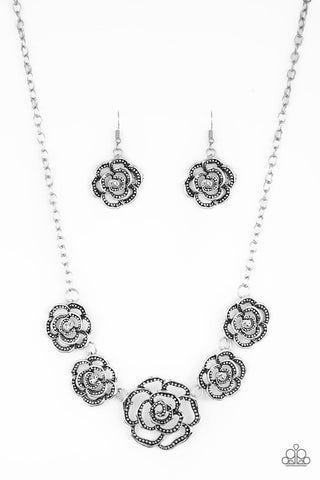 Paparazzi Primrose Princess Silver Short Necklace