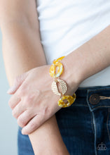 Load image into Gallery viewer, Paparazzi Retro Recharge Yellow Clasp Bracelet