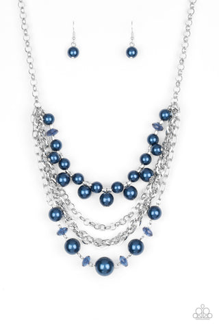 Paparazzi Rockin' Rockette Blue Short Necklace