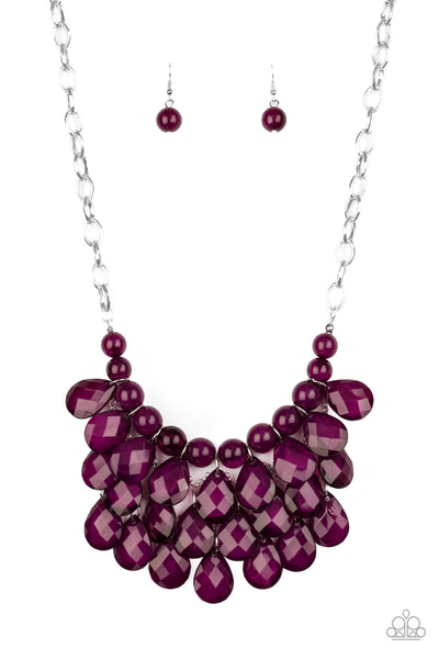 Paparazzi Sorry To Burst Your Bubble Purple Short Necklace - Convention 2020