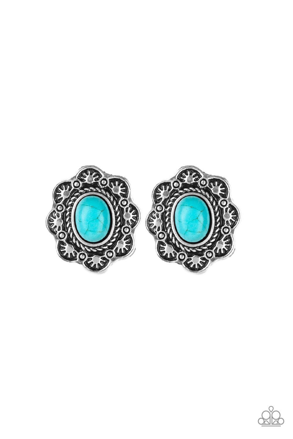 Paparazzi Springtime Deserts Silver Post Earrings