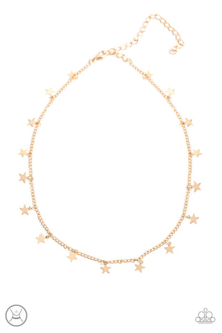 Paparazzi Starry Skies Gold Choker Necklace