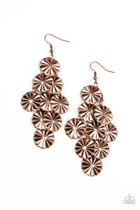 Paparazzi Star Spangled Shine Copper Fishhook Earrings