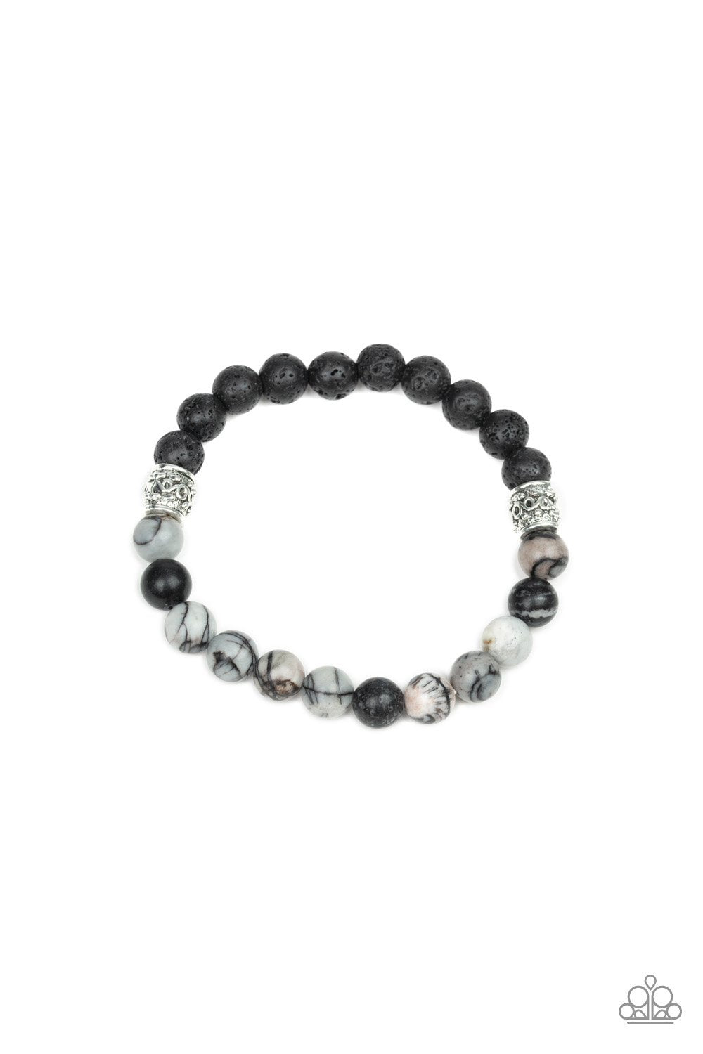 Paparazzi Take It Easy Black Stretch Bracelet