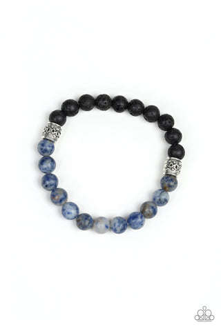 Paparazzi Take It Easy Blue Stretch Bracelet