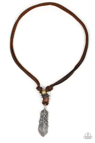 Paparazzi That Quill Be The Day Multi Men's Short Necklace