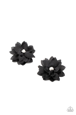 Paparazzi Things That Go Bloom! Black Hairbow Duo