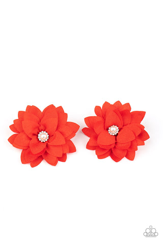 Paparazzi Things That Go Bloom! Red Hairbow Duo