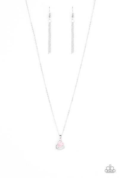 Paparazzi Turn On The Charm Pink Cubic Zirconia Short Necklace