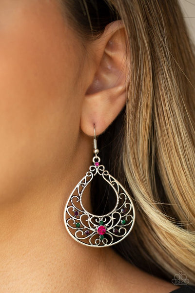 Paparazzi Vine Shine Multi Fishhook Earrings