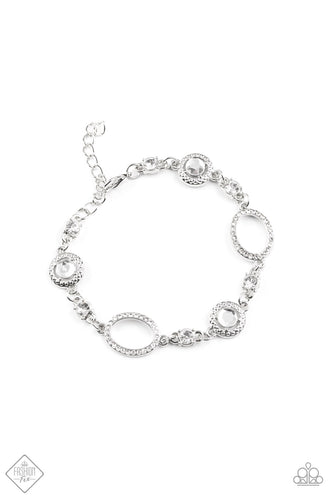Paparazzi Wedding Day Demure White Clasp Bracelet - Fashion Fix Fiercely 5th Avenue November 2020