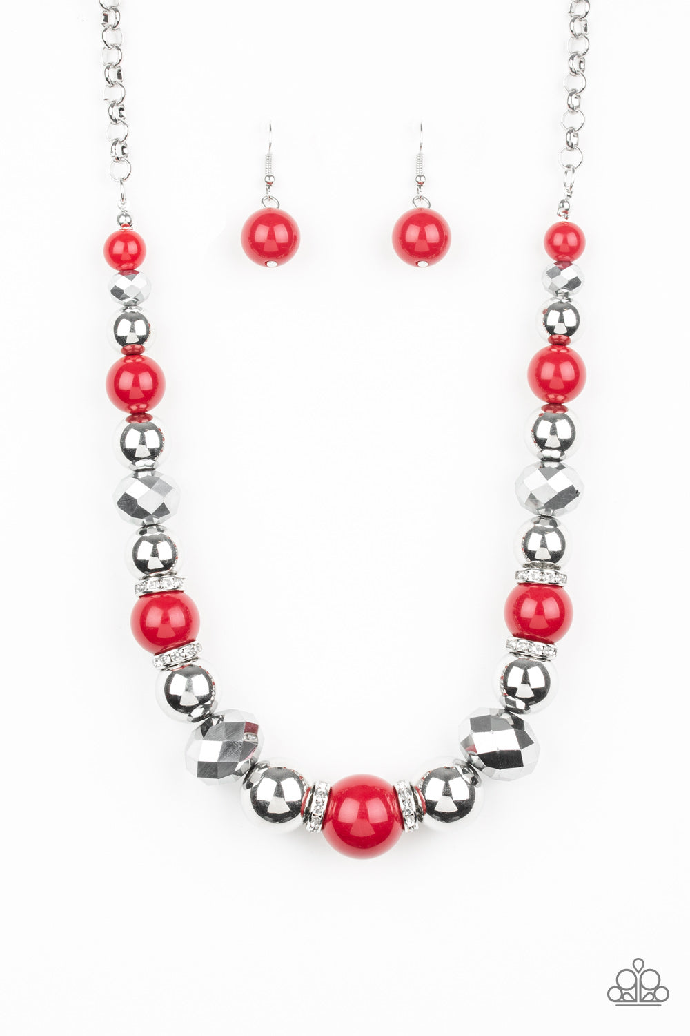 Paparazzi Weekend Party Red Short Necklace