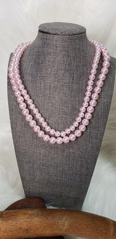 Paparazzi Woman Of The Century Pink Pearl Short Necklace - Fashion Fix Exclusive April 2020