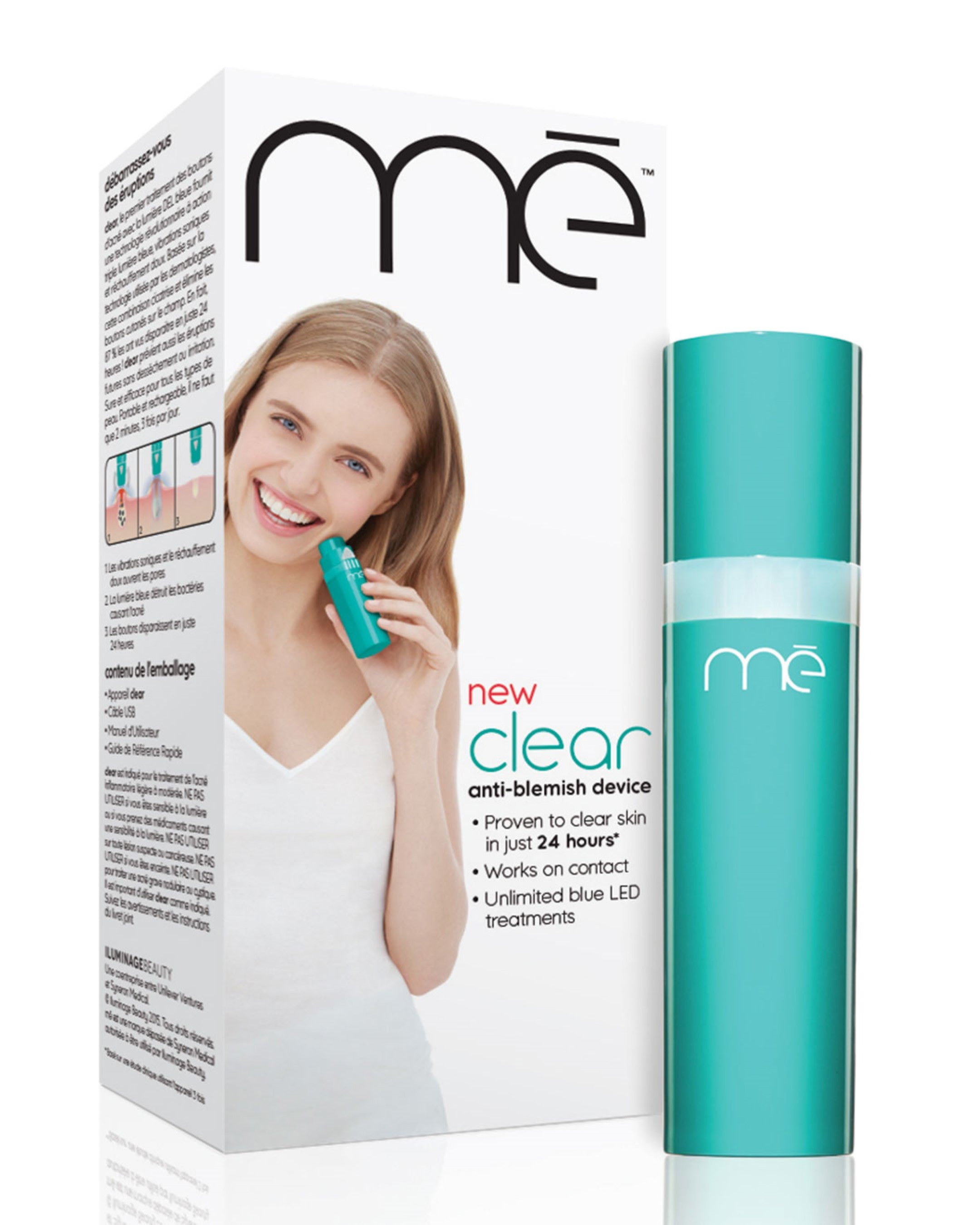 mē Clear Anti-Blemish Acne Treatment Blue Light Device