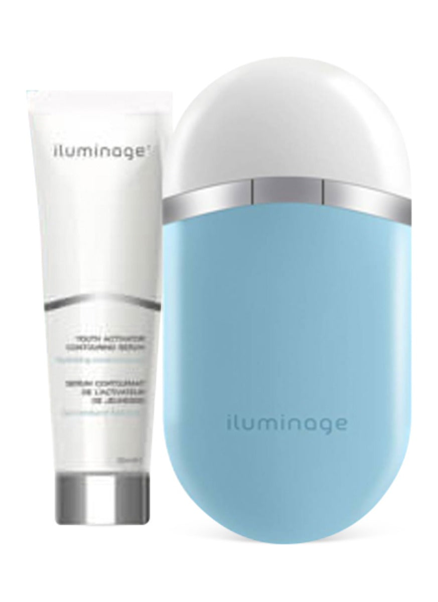 Iluminage Youth Activator Infrared LED & Radio Frequency Anti-Aging Device - w/ 2 Youth Activator Contouring Serums