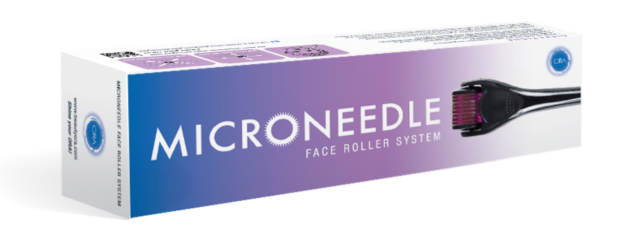 ORA Facial Microneedle Roller System (Anti-Wrinkles, Stretch Marks, Scars & Cellulite) - 0.25mm