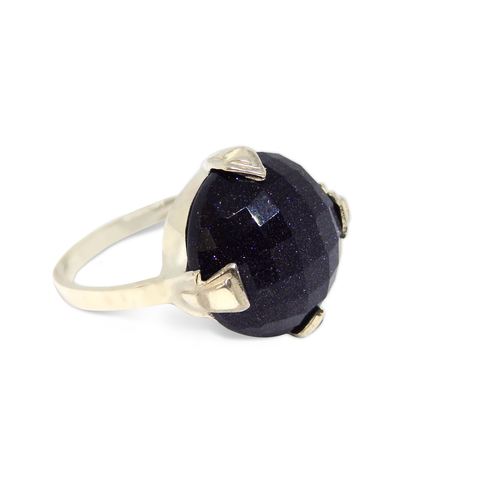 Blue Sandstone Fortune Ring - Mind Power