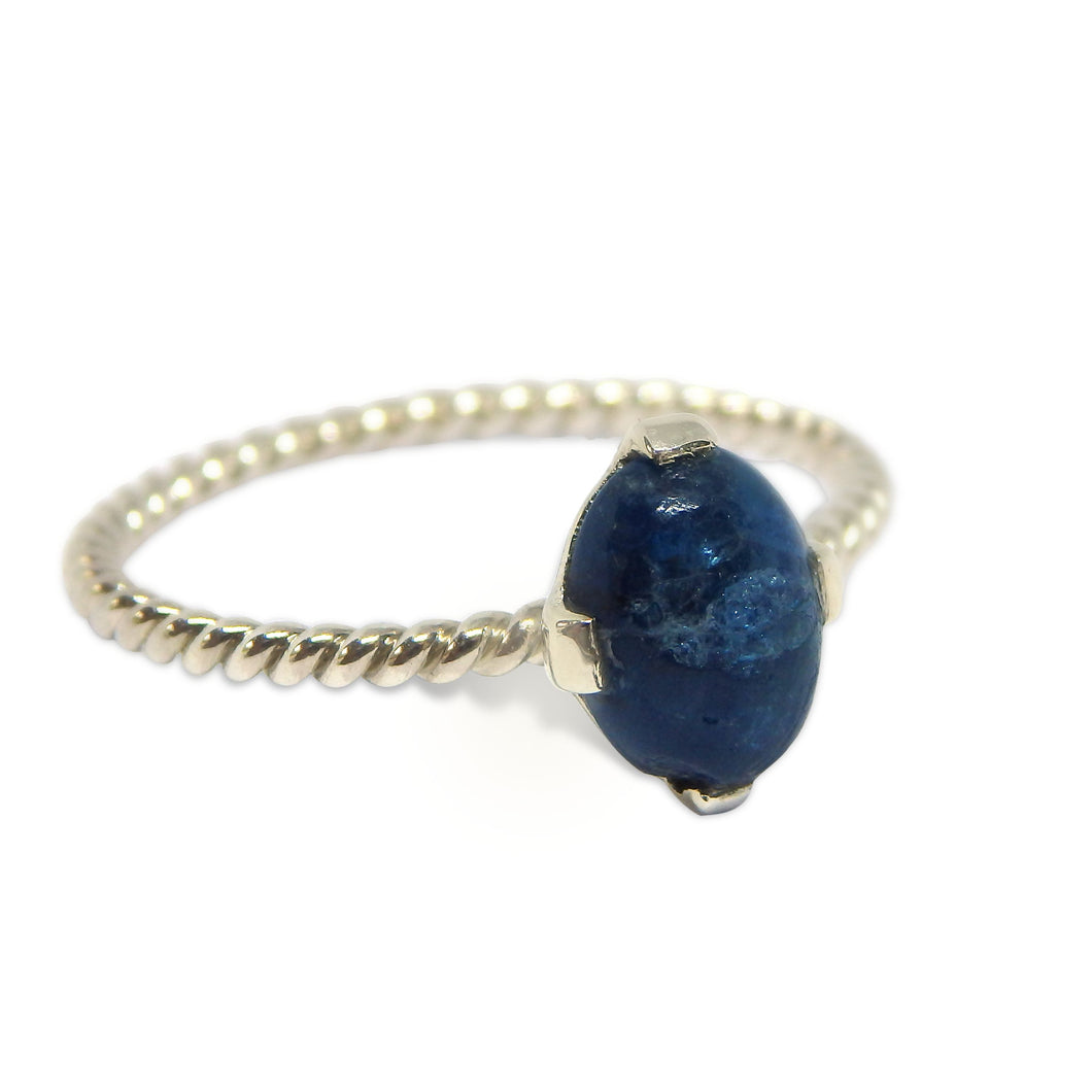 Blue Apatite Stacker Ring
