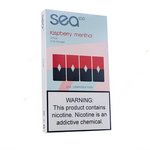 Sea100 Pods - Raspberry Menthol - 4 Pack: 1mL 5% Premium Salt-Nic Juul Compatible Pods