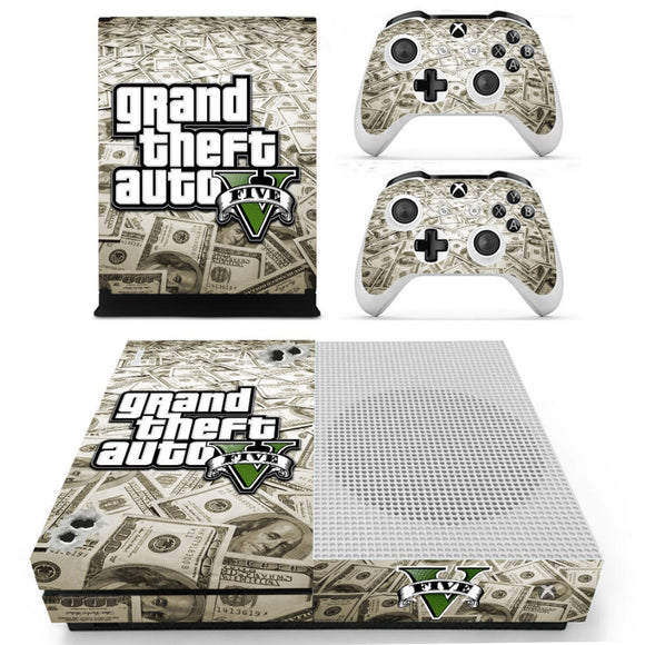 Skin Grand theft auto pour 2 manettes Xbox One S et sa console