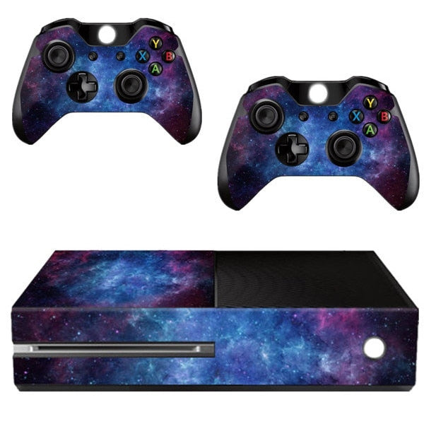 Skin Galaxy pour 2 manettes Xbox One et sa console