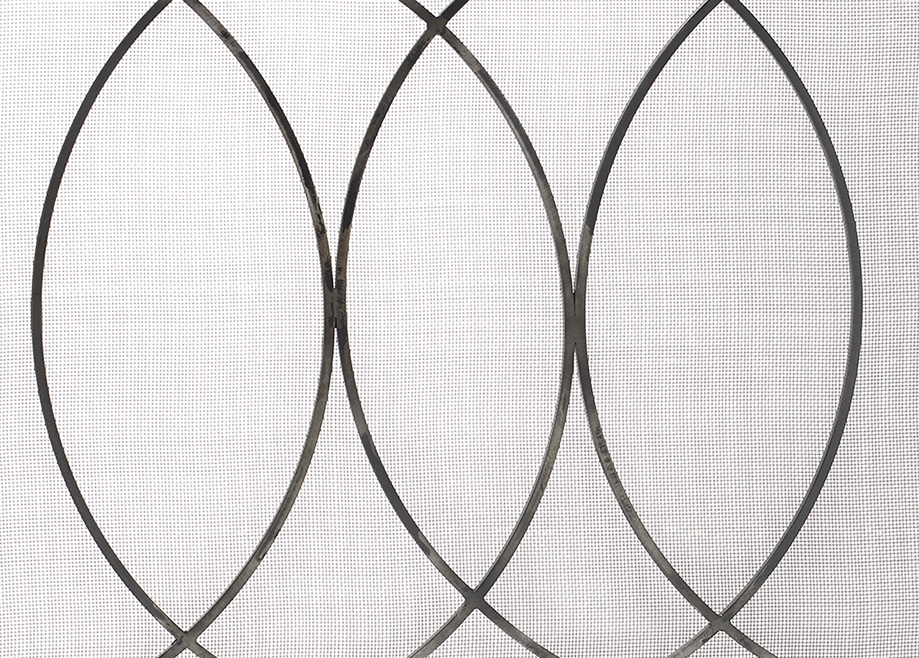 Coronet fire screen with true steel finish - detail