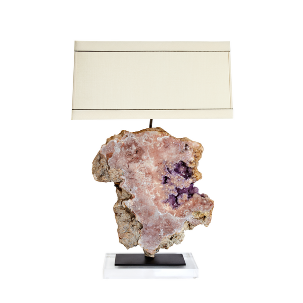 Claire Crowe Collection - Pink Amethyst Lamp