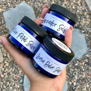 Salve Variety Pack - Cannabis Infused Rose Petal, Lavender, and Lemon Balm Salve