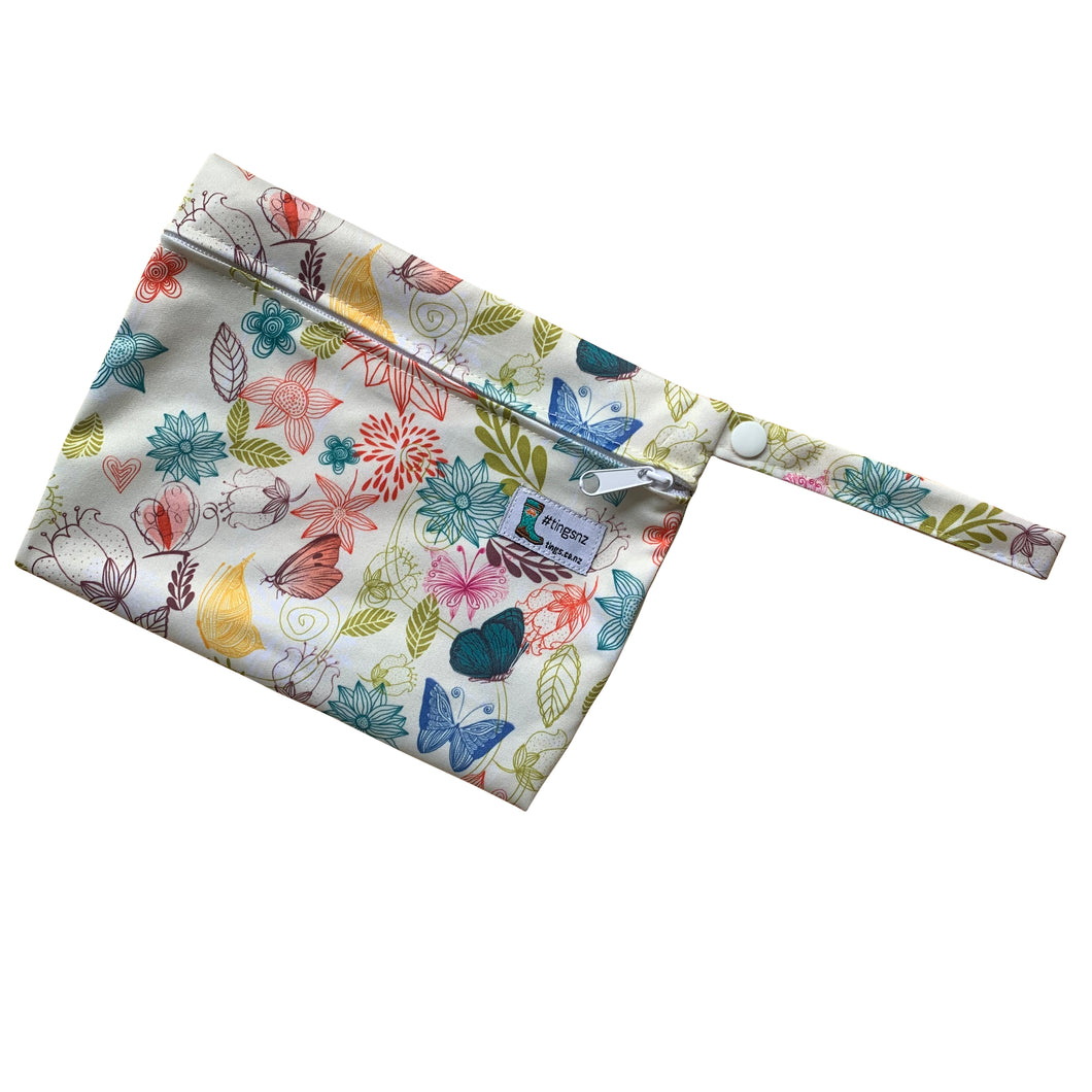 Small flowers and butterflies wet bag