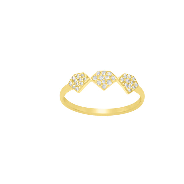 Pave Diamond Shaped Ring