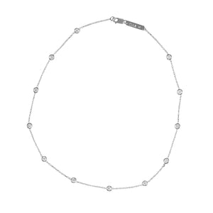 Bezel Set Diamond Choker