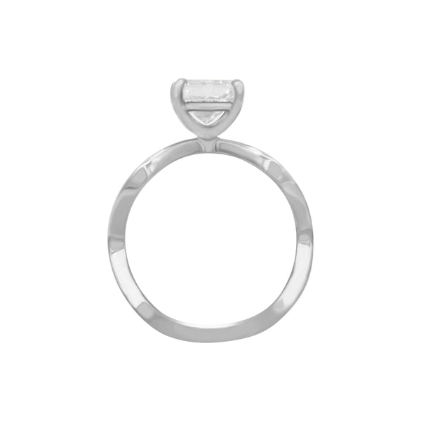 Plain Wavy Engagement Ring Setting