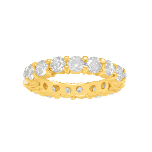 Round Brilliant Closed Eternity Band