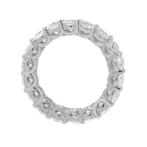 "Round Brilliant ""U""  Eternity Band"