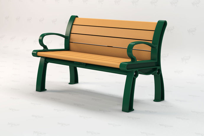 Heritage Bench - Cedar - Recycled Plastic - Poly Lumber - Resinwood