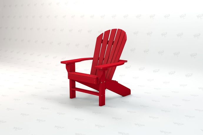 Seaside Adirondack Chair - Red - Recycled Plastic - Poly Lumber - Resinwood