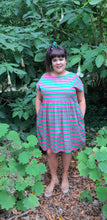 Load image into Gallery viewer, Pink & Green Stripe Frock