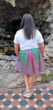 Load image into Gallery viewer, Pink & Green Stripe Skirt