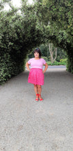 Load image into Gallery viewer, Pink & Red Stripe Skirt