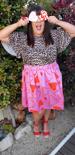 Sleeping Hearts Skirt