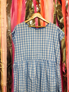 Sample Sale Blue and White Gingham Frock XS