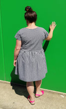 Load image into Gallery viewer, Black & White Gingham Frock