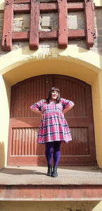 Pink and Black Radelaide Frock